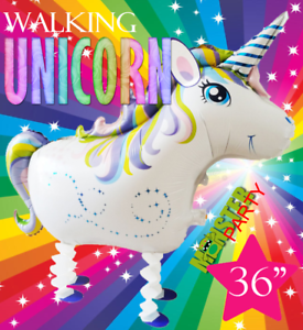 "36/"" WALKING Unicorn Centerpiece BALLOON balloons BIRTHDAY PARTY SUPPLY"