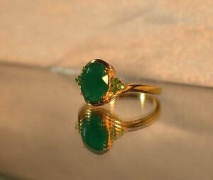 3-67-ct-NATURAL-GENUINE-EMERALD-925-STERLING-SILVER-COCKTAIL-SIGNET-RING-YG
