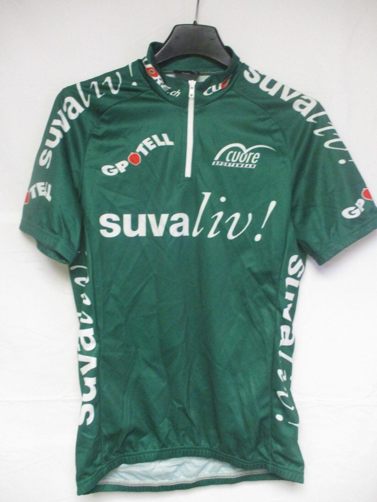 Maillot cycliste SUVALIV SICHERE FREIZEIT n°66 shirt trikot maglia Cuore n°66 S