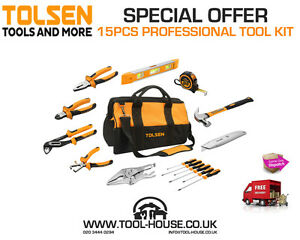 Pro Tool Set 15 PCS TRADE HOME DIY KIT Quality Guaranteed - <span itemprop=availableAtOrFrom>Hayes, United Kingdom</span> - Returns accepted Most purchases from business sellers are protected by the Consumer Contract Regulations 2013 which give you the right to cancel the purchase within 14 days after the day yo - Hayes, United Kingdom