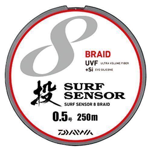 Daiwa Daiwa Daiwa PE LINE UVF SURF Sensor 8Braid+Si 250m  0.5 Multi  Fishing LINE 363067