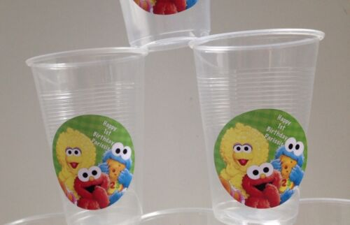 18 x Personalised Sesame Street Birthday Party Cup Decorations