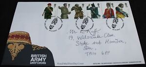 2007-Royal-Mail-British-Army-Uniforms-FDC-First-Day-Cover-KM-Coins
