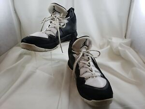 fe1e317879b Nike Air Jordan Flight Plate Black White Hi-Tops Sneakers Size Men s ...