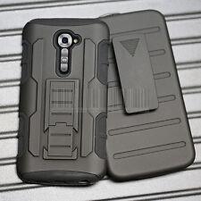 Shockproof Armor Hard Rugged Hybrid Case Cover Holster For LG G2 VS980 VERIZON