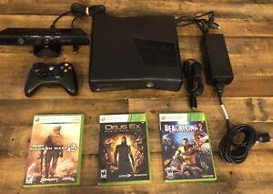 Microsoft Xbox 360 Slim 250GB Black Console S Model 1439 W ...