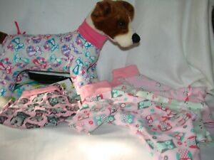 Size 11 Fleece and Flannel Dog jammies
