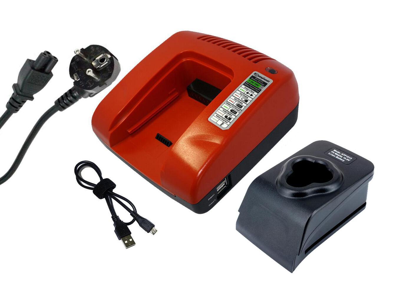 10.8V Ladegerät für Makita DC10WA CC300DW CC300DZ CL100DW CL100DZ CL102D, Rot