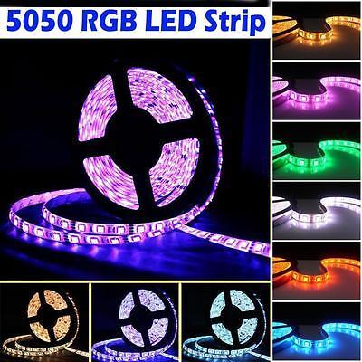 5M Led Strip 3528 5050 5630 SMD RGB Warm White 300 Light Strips/Key Remote/Power