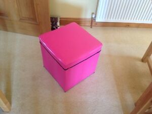 * Cerise Rose Toy Box De Stockage/tabouret-afficher Le Titre D'origine