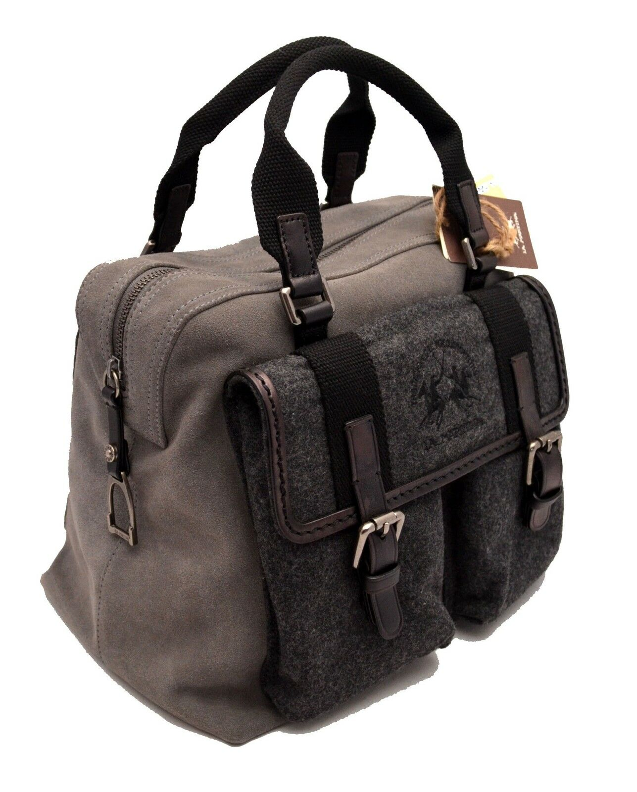 Shoulder Bag La Martina Polo Shirts Women Leather Jaramillo Grey