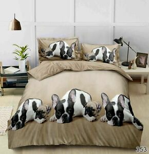 3D Duvet Cover Bedding Set With Fitted Sheet & Pillowcases(353) Double King Size
