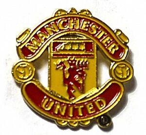 Manchester Utd Crest Metall / Emaille Anstecknadel - Offiziell Lizenziert