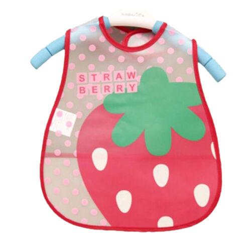 Baby Toddler Child Plastic Wipe Clean Bibs Waterproof Food Catcher Cover Feeding