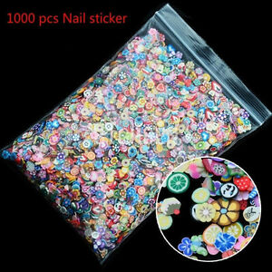 1000pcs-Nail-Art-3D-Fruit-Animals-Fimo-Slice-Clay-DIY-Tips-Sticker-Decoration