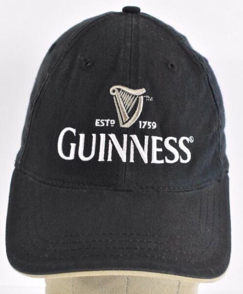 c18562213239e Black Guinness Beer Company Logo Harp Embroidered baseball hat cap  Adjustable