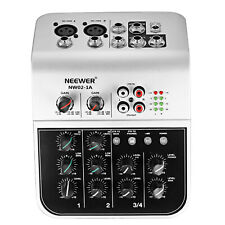Neewer Mixing Console Compact Audio Sound 2-channel Mixer for Condenser With 48v