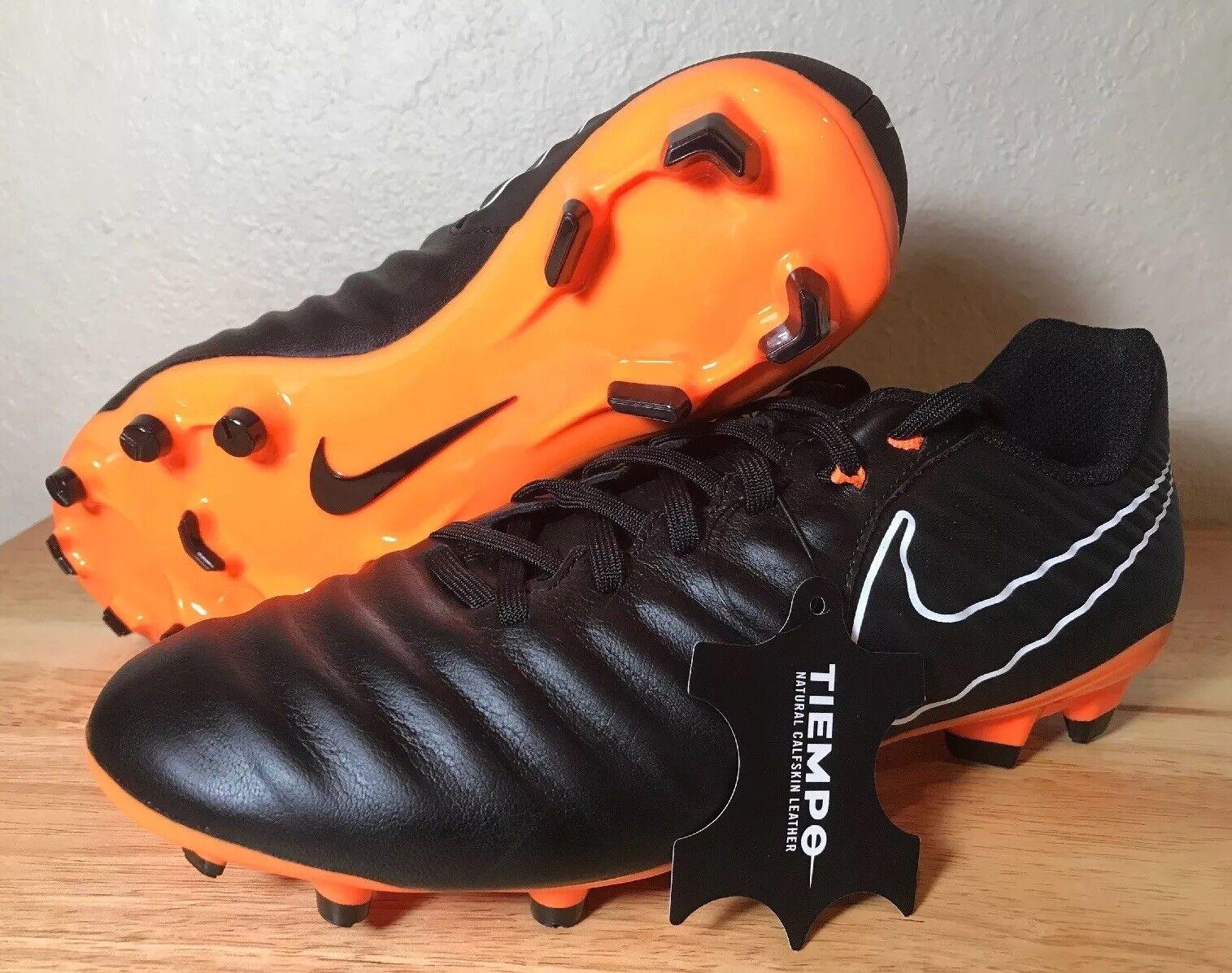 Nike Tiempo Legend VII 7 Academy FG Size 6 Black orange Soccer Cleats AH7242-080