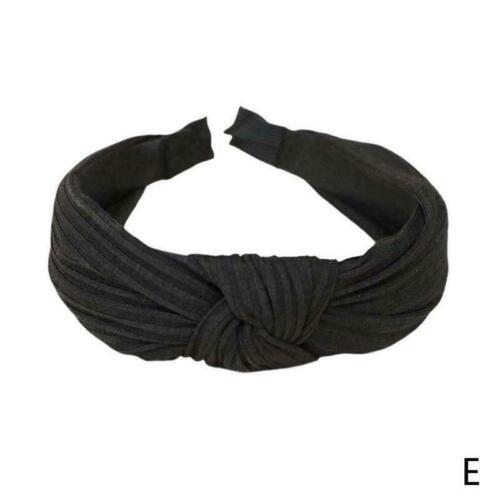 Women Lady style Bow Knot Cross Headband Twist Head Velvet Band Girl Hoop H X6A0