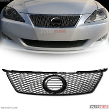 For Lexus IS250 IS350 2006-2008 Glossy Black Front Bumper Grille Trim Molding
