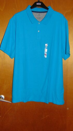 """M/&S /'Cool Comfort/' 100/%Cotton S//S Polo Shirt Top XXL Ch47-49/"""" Brt Turquoise BNWT"""