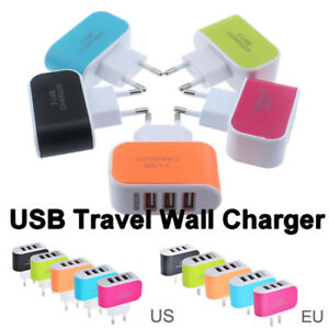 3-1A-Triple-USB-Port-Wall-Home-Travel-AC-Charger-Adapter-For-Samsung-Apple-US-EU