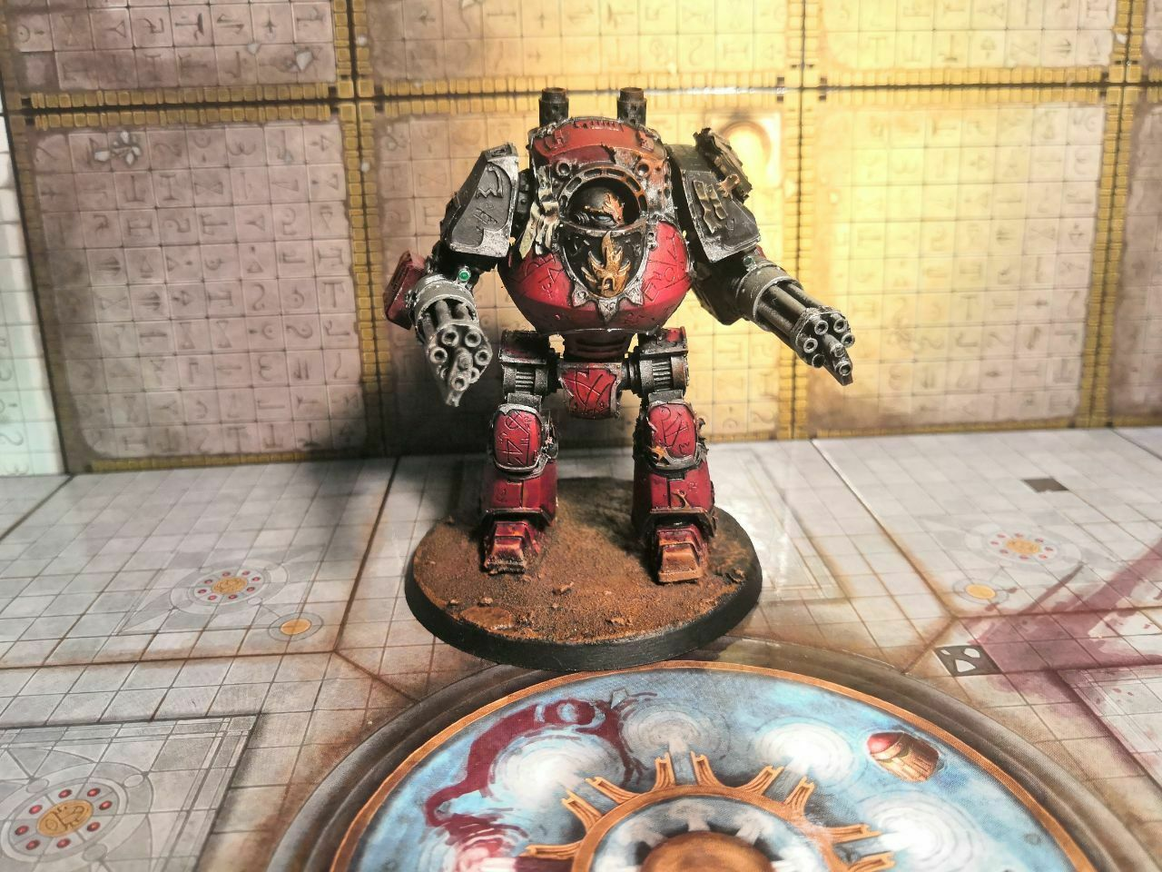 Word Bearers Legion Contemptor Dreadnought painted Warhammer 40k Horus Heresy