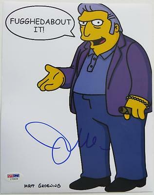 #i72624 psa/dna Joe Mantegna Signed Simpsons Authentic Autographed 8x10 Photo