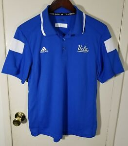 971426d9f Men s Small ADIDAS UCLA Bruins Climalite Blue Rugby Golf Polo Shirt ...