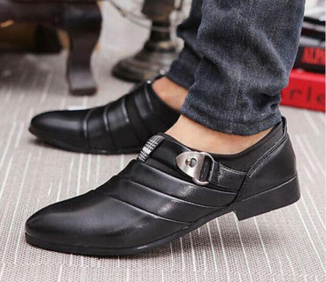 Korean casual Men/'s formal wear business shoes pointed toe wedding shoes T37