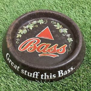 Vintage-Great-Stuff-This-BASS-Ashtray-Flower-Design-Man-Cave-Pub-Bar-60s