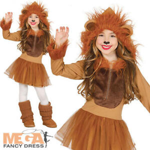 b61946267421 Lion Girls Fancy Dress Jungle Zoo Animal World Book Day Kids ...