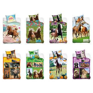 Animal-Planet-Bettwaesche-Bed-Linen-Giraffe-Horse-Crane-Pferde-Pferd-Pony-Horses