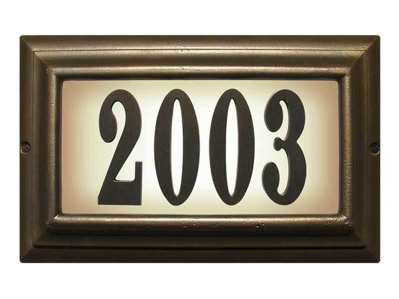 Large lighted address address address sign in French Bronze fdf11b