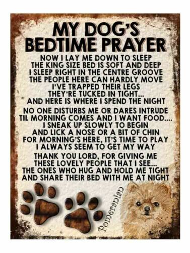 Dogs Prayer metal sign funny pet breed plaque retro style decor Gift Shabby chic