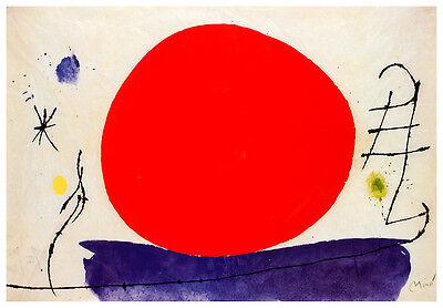 Joan Miro Rote Sonne 1967 Poster Kunstdruck Bild 49x70cm