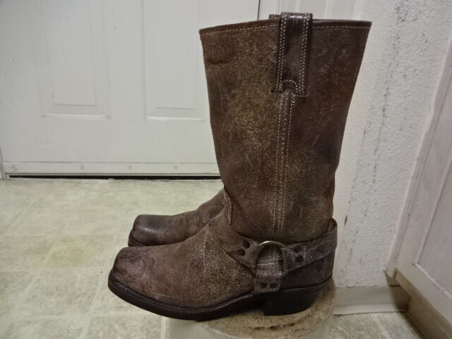 MADE IN USA FRYE HARNESS MOTORCYCLE BOOTS GREAT COND FEW TIMES USED WON 8.5 M