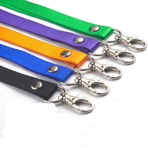 Neck Strap Lanyard Safety Breakaway For ID Name Badge Holder Keys Metal Clip SL!