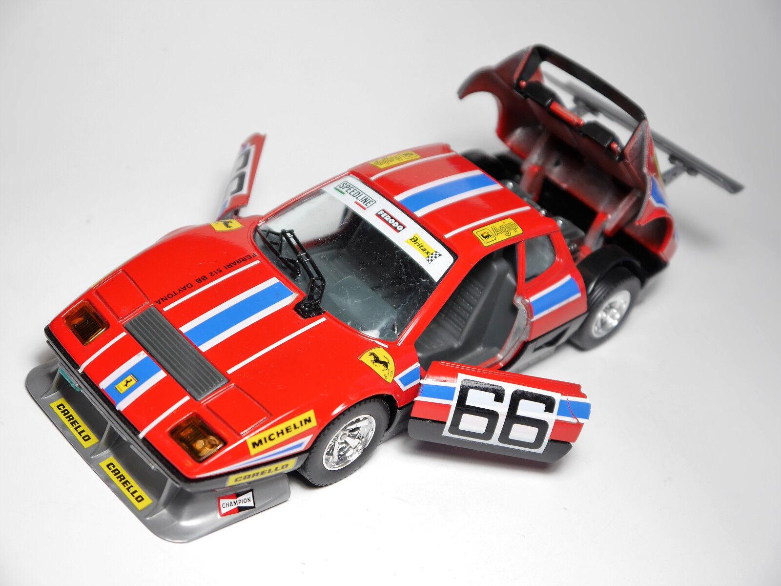 Ferrari BB 512 Daytona voiture de course racing car AGIP  66, Bburago en 1 24