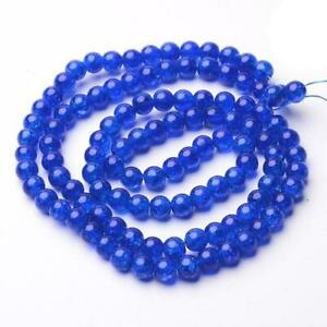 Pcs Frosted Art Hobby DIY Jewellery Making Dark Blue Glass Round Beads 8mm 100