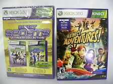 """Combo Deal"" Xbox 360 Kinect Sports Ultimate Collection + Kinect Adventures"
