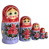matroschka babuschka matryoshka m rchen gusi lebedi set aus 7 puppen ebay. Black Bedroom Furniture Sets. Home Design Ideas