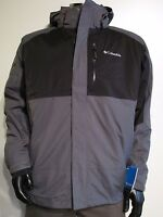 Mens S-m-l-xl-xxl Columbia Rural Mountain 3in1 Hooded Ski Insulated Jacket Gray