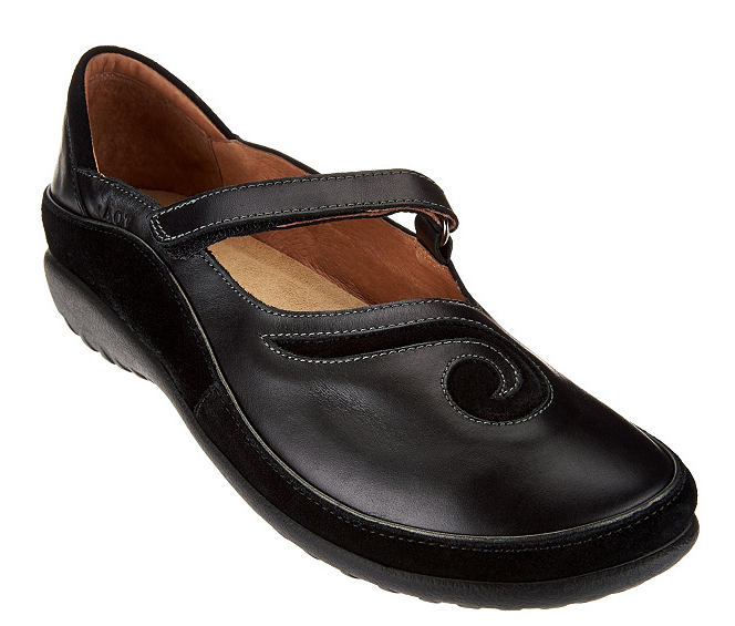 Naot Leather Mary Janes - Matai Matai Matai Black Women's shoes EU36 US Size 5-5.5 New c968b8