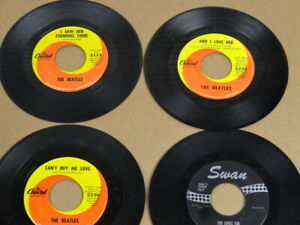 THE-BEATLES-CAPITOL-RECORDS-SWAN-45-rpm-4-records