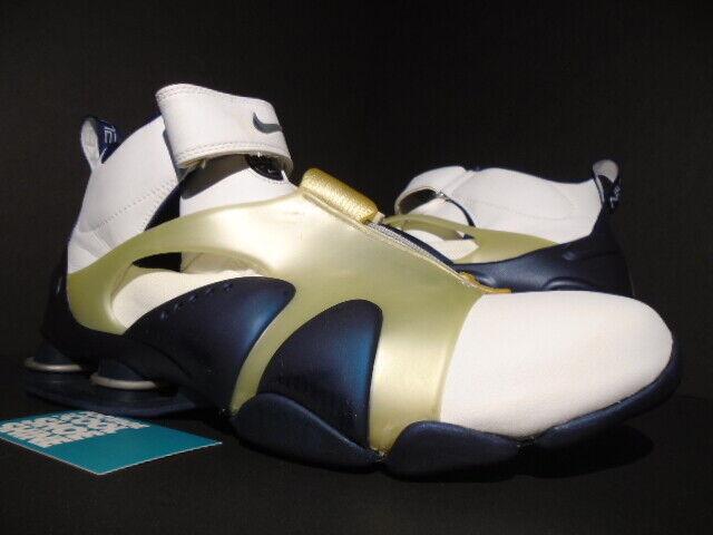 2002 NIKE SHOX STUNNER blancoo Azul Marino Plateado 302918-141 BB4 VC 302918-141 11.5