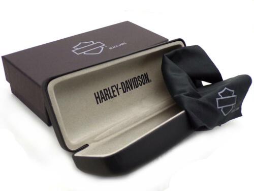 HARLEY DAVIDSON /'Black Label/' Glasses CASE /& Cloth for Prescription Eyeglasses