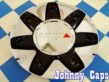 MKW Custom Wheel Center Cap Chrome Finish Black Inserts M75-A-3 M75-A1-1
