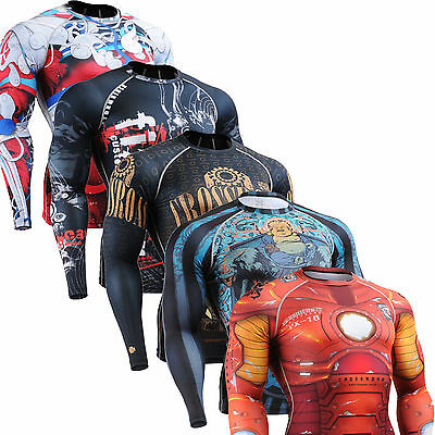 SKIN compression tight shirts under cycling golf base layer armour running Top