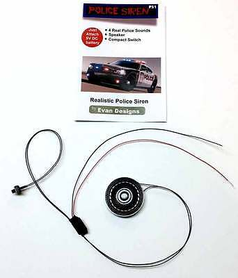 POLICE Siren Circuit for Diecast Models and R/C Emergency Vehicles